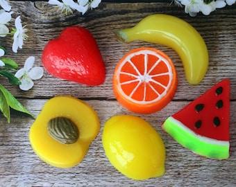 Gift Set soap, Fruit soap, Handmade soap, Fruit set, Decorative soap, Birthday gift set, Fake Food soap, Realistic soap, Gift soap