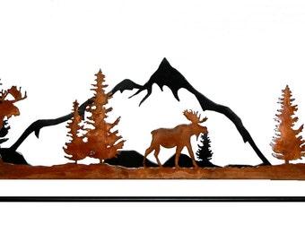 Moose metal art Quilt Hanger
