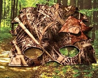 Child's Mask - Sasquatch - Camouflage  Vinyl - Woodland creature