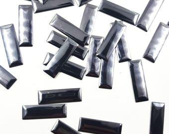 Gunmetal Baguette Rectangle Metallic Iron On Studs, Hot Fix Iron On  Baguette  Studs 100 pcs
