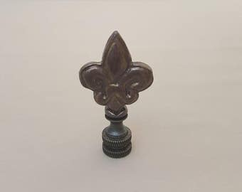 Fleur de lis Lamp Finial....Hand Crafted to Order.