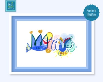 Table name MARIUS - gift or child's room decor
