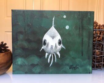 Bubbles the Fishie - canvas reproduction