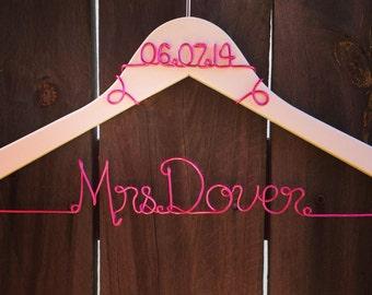 Personalized Custom Wire Wedding Hanger, Wedding Dress Hanger, Bride Hanger