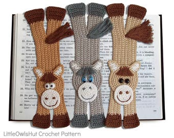 031 Horse Bookmark - Amigurumi Crochet Pattern PDF file by Zabelina Etsy