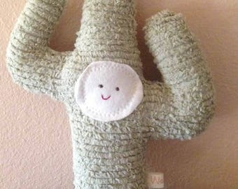 Cactus Doll Saguaro Waldorf Eco Kids Toy Plush Nature Fun Nursery Decor