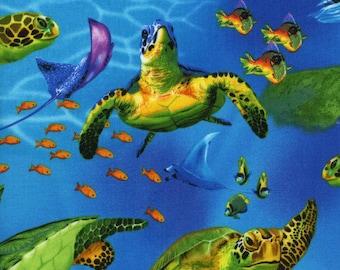 Sea Turtles,seahorses, and Fish, Timeless Treasures
