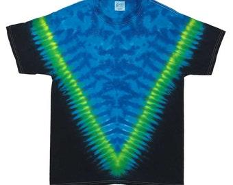 Tie Dye T-Shirt - V Blues Black
