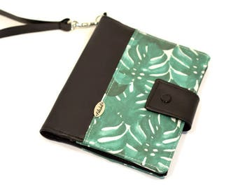 Ready to go | ANTI RFID | Short Versatile with palm leaves tree | Passport holder for solo for one , couple or family | Passport cover