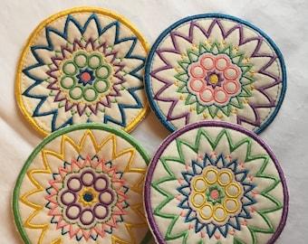 Colorful set of coasters