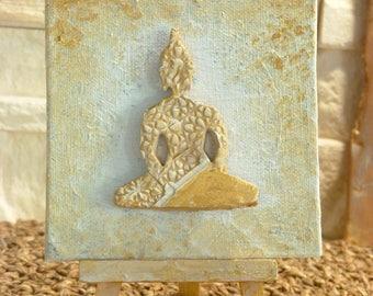 Buddha I mini canvas on easel