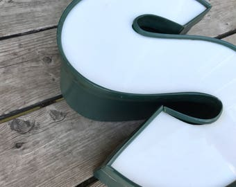 S - Reclaimed Metal letter - 13 inch