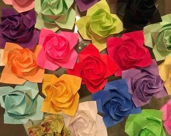 20 Origami Roses