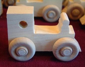 12 Assorted Pine Mini Train Engines