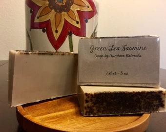 Green Tea & Jasmine Handmade Goat's Milk Soap, Natural Soap, Bar soap, Floral