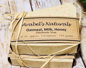 Oatmeal Soap - Oatmeal Honey Soap - Shea Butter Soap - Exfoliating Soap - Moisturizing Soap - Natural Soap - Bar Soap - Vegan soap bar