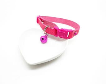adjustable leather cat collar, safety clasp - various designs