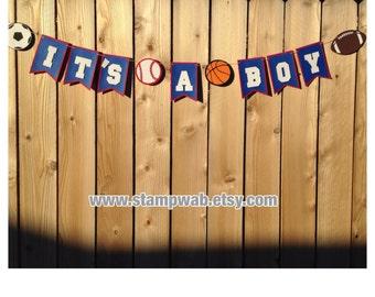 It's A Boy Sports Banner