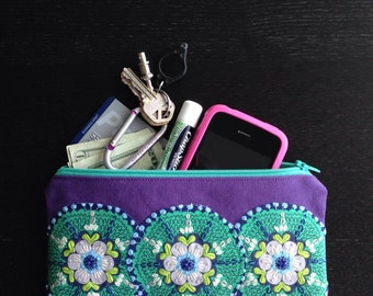 Awesome Embroidered Embellished Oversize Pouch