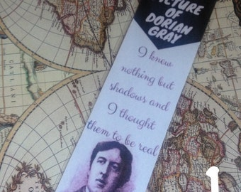 Author Series - Oscar Wilde, Laminated Bookmarks, The Picture of Dorian Gray, Bookmark Quotes, Gift for Readers, Literary