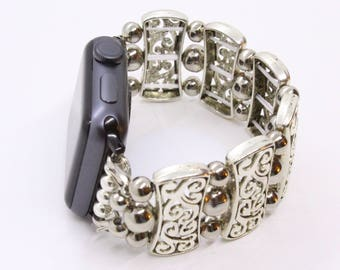 All Silver 3 Apple Watch Band - 38mm - 42mm - Apple Watch Bands - Apple Watch Band Women