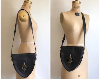 Vintage 1940s 1950s Novelty Purse Door Knocker Hangbag Leather 40s 50s