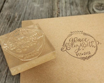 "Custom Logo Stamp ( 2"" x 2"" )  - Personalized Rubber Stamp"