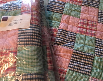 twin patchwork coverlets by Garnet Hill