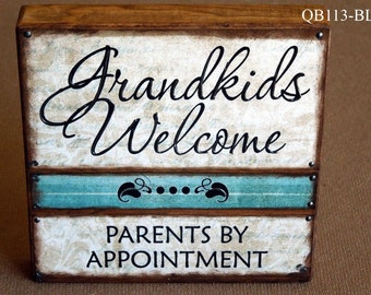 Grandkids Welcome Quote Block (QB113)