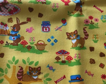 Kawaii Japanese Fairy Tale Alice in Wonderland out-of-print fabric