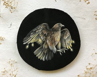 Red Tailed Hawk Cosmic Creatures | Original Painting on wood