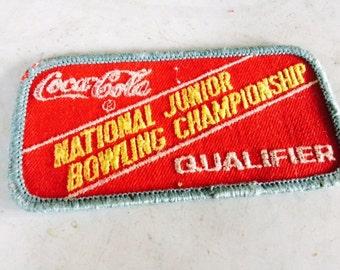 Vintage Coca Cola bowling patch