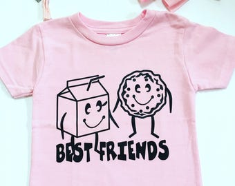 Best Friend Tee Shirts, Cookies And Milk Tee Shirts, Best Friend Tshirts, Siblings Tee Shirts, Brothers And Sister Shirts, Friendship shirts