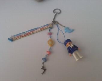 Keychain is handmade depicting sea Playmobil