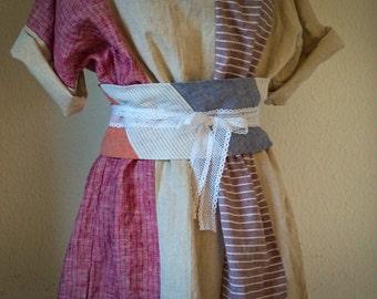 Obi belt - linen and cotton