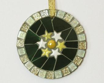Handmade Mosaic Bubble Circle Ornament