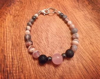 Pink Lady Essential Oil Bracelet