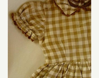 ONSALE Vintage Cotton Doll Dresses Lace and Ruffles Lot 87