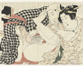 Erotica; Japanese Shunga; In The Open Air, Katsushika Hokusai, 1815-1823