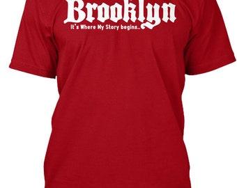 Brooklyn: Where My Story Begins Hanes Tagless Tee Tshirt