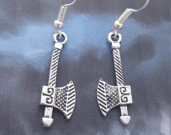 Axe Earrings, Viking Axe Earrings, Geeky Earrings, Dwarven Earrings, Norse Jewelry, Viking Jewellery, Dwarven Jewellery, Norse Mythology