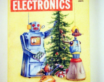 Popular electronics Christmas Robot Ornament