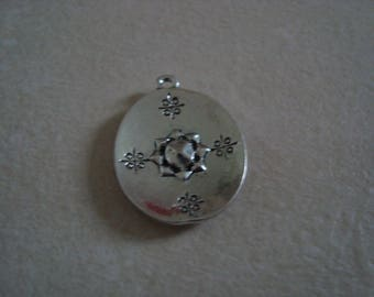 Silver Oval charm