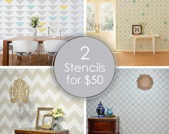 Choose Any 2 Stencils Of Your Choice