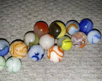 Vintage Marble Lot Akro WV Swirls