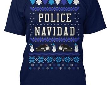Police Navidad Hanes Tagless Tee Tshirt