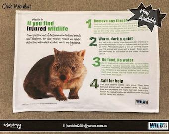 Wildlife Rescue Tea Towel
