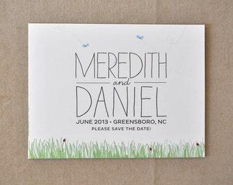Sweet Outdoor Wedding Save the Date Postcard - Deposit Listing