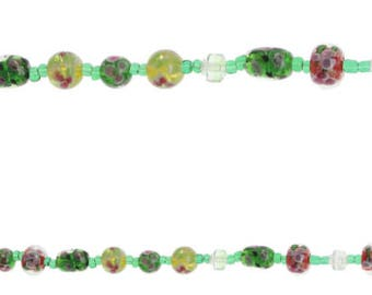 735 - Lampwork, Glass, Assorted Sizes and Colors, Round and Tube - Package of 10