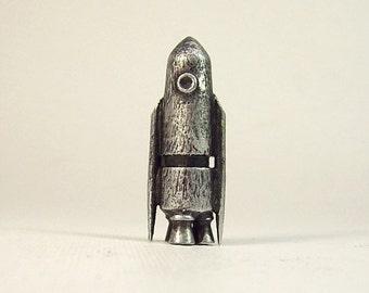 Rocket collier la NASA fusée pendentif argent fusée Miniature Orament vaisseau spatial bois Retro Rocket